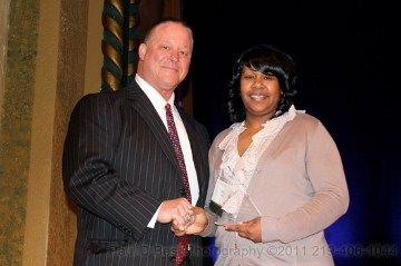 Baylor Youth receives the Athletic Mentor Inspire Award