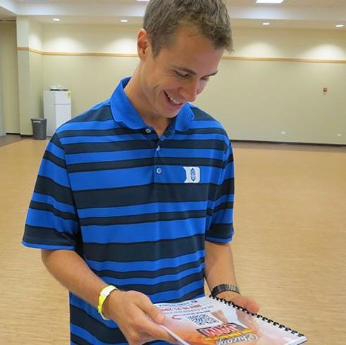 John Scheyer Duke College Coach Recruiting at Baylor Event