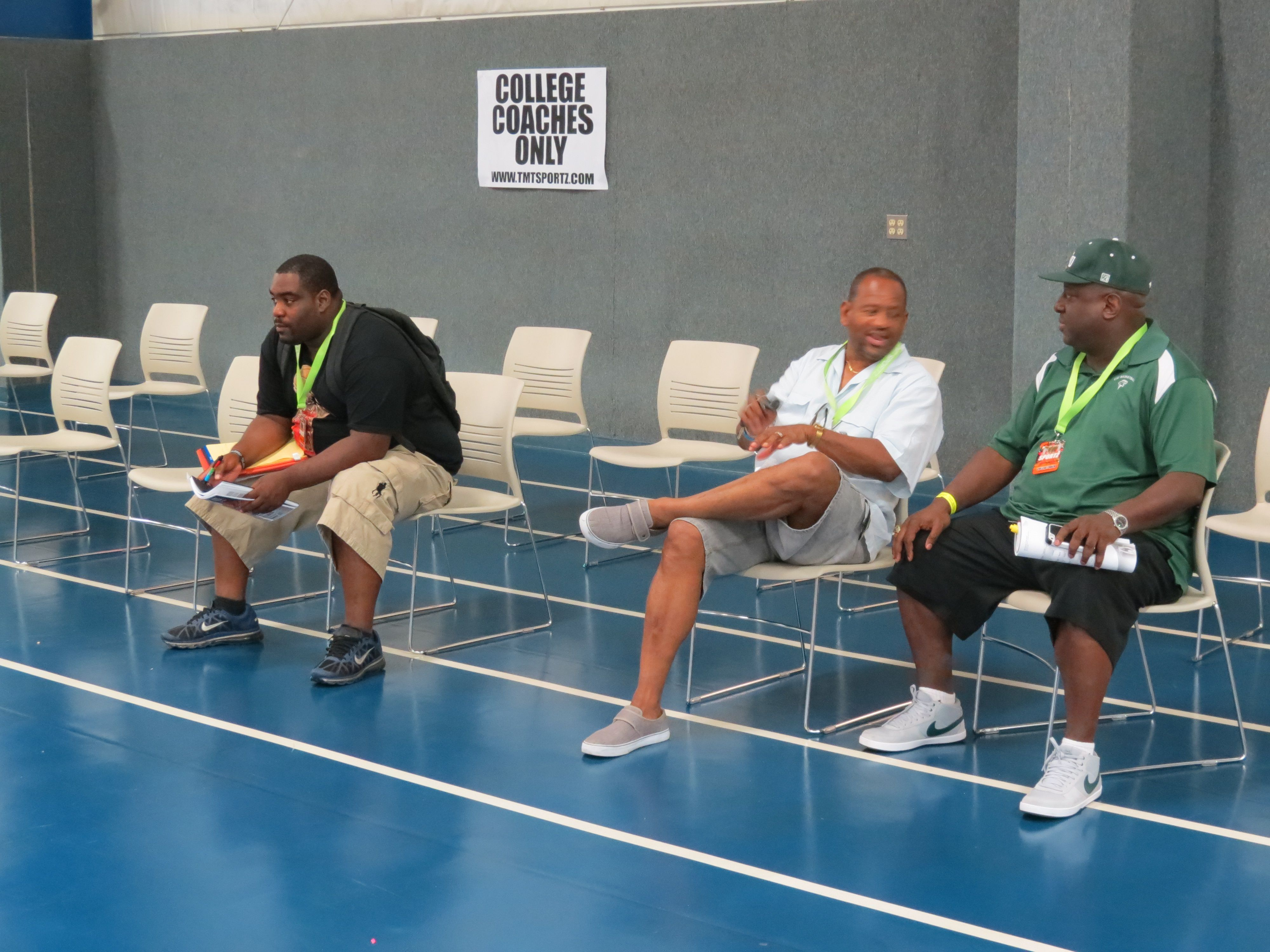 More College coaches and scouts