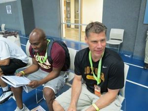 Head Coach Porter Moser and Assistant Emanuel Dildy - Loyola University