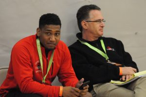 Men College Coaches at the 2014 Nike Spring Showdown